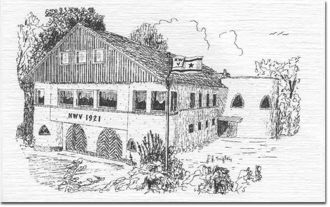 Bootshaus Front Zeichnung